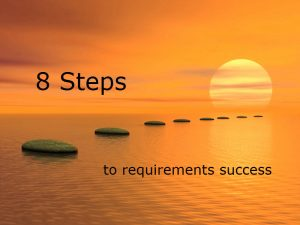 8 Steps to requirements success