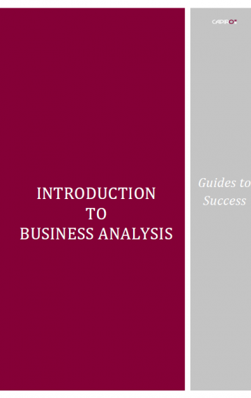 Supports BCS syllabus: 'Foundation in Business Analysis'